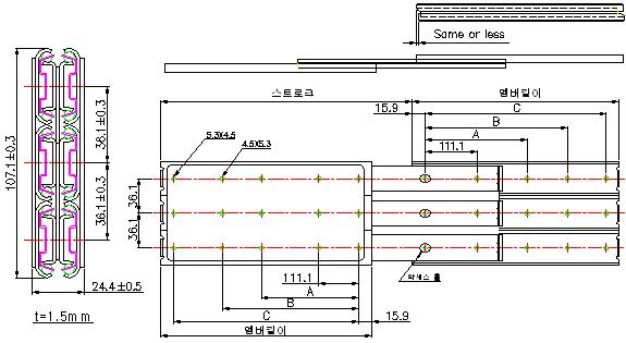 구매하기 스틸 더블 슬라이드 DYS-3519BB