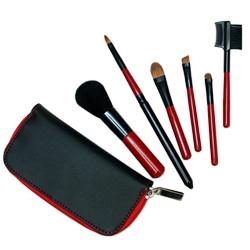 구매하기 Blood Red Mini Travel Zip Brush Set/메이크업 브러쉬 세트