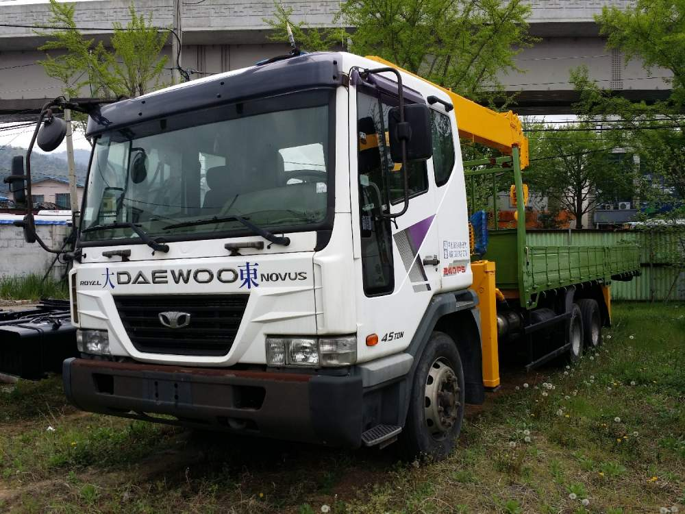 구매하기 Daewoo Novus SE (used 2012) with new crane Soosan SCS 736 L II