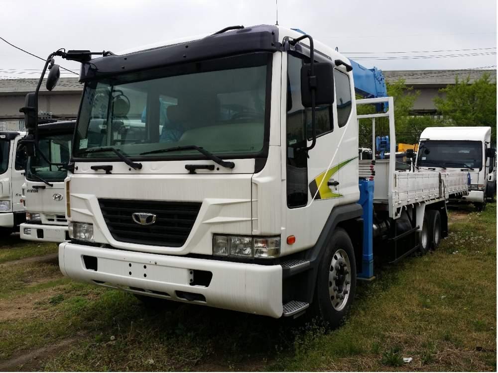구매하기 Daewoo Novus SE (used 2012) cargo truck with new crane DongYang SS1406( 7t,18.3m)