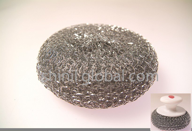 Galvanized scrubber with handle