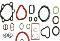 Gaskets, packing glands, rubber, heat-resistant