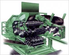 Motor vehicle tire processing equipment