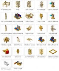 타워크레인 구성부품 / tower crane components