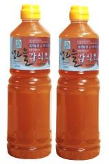 유기농감 샘고을 감식초 900ml X 2병