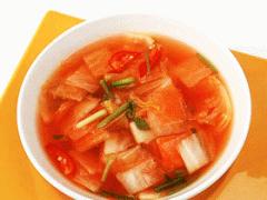 태백고원 나박 물김치