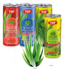 Aloe drink with aloe vera gel 240ml