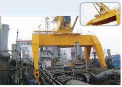 Gantry deck crane