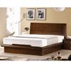 침대,  DF708 카살라 천연무늬목 평상형 침대[라텍스, 퀸(Q)]