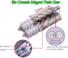 Bio ceramic magnet twin gear