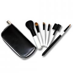 Black & White Travel Zip Brush Set/메이크업 브러쉬 세트
