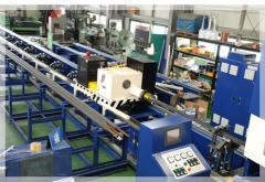 Fin Tube Welding Machine / Outlet conveyor / 아웃랙 컨베이어 / 핀닝 튜브 출력 장치
