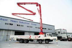 Truck mounted concrete boom pump car Elephant 52ZR5