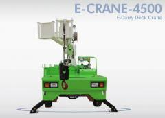 "E-Carry Deck Crane ""E-Crane 4500\"" from korean brand \""Horyong\""."