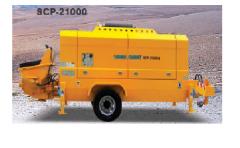 Scp21000 stationary pump  (samil concrete pump car)