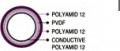 플라스틱 전도층 4-layer 튜브 PVDF