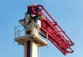 Placing boom (samil concrete pump car)